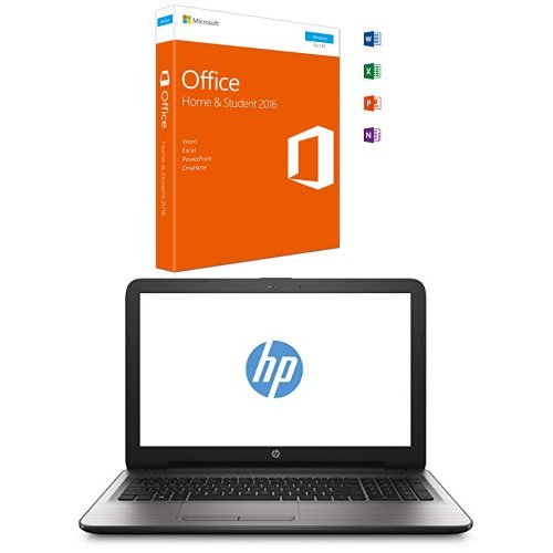 Microsoft Office Home and Student 2016 + HP 250 G5 SP (Z2Z76ES) 39,6 cm (15,6 Zoll / HD ) Business Laptop