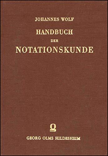 Handbuch der Notationskunde. Band 2: Tonschriften der Neuzeit. Tabulaturen, Partitur, Generalbaß und Reformversuche. Leipzig 1919. 2. Reprint: Hildesheim 2004. XV/519 S.