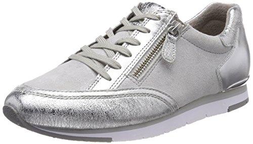 Gabor Shoes Damen Casual Derbys, Mehrfarbig (Silber/Ice), 43 EU