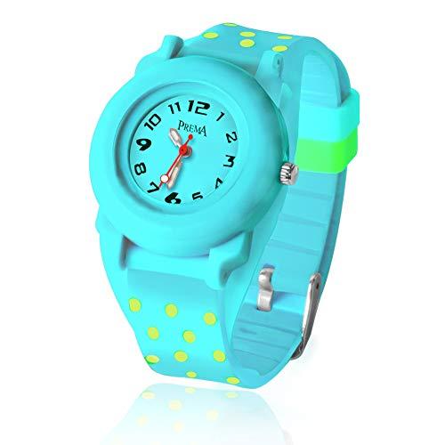 Kinder Uhr für Mädchen kinderuhr Junge sehen Sport wasserdichte niedliche Welle Punkt Quarzuhr Nachtlicht Mädchen Silikon Uhr Unterricht Armbanduhr Jungen Kinder Geschenk -