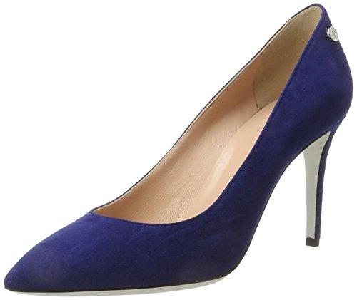 Pollini pc85, scarpe con tacco donna, blu (blue), 39 eu