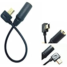 Lxctech 3,5mm Mini USB 10pin Estéreo Micrófono Adaptador Cable ( Mic Convertidor ) Externo para GoPro Hero3 Hero3 + Hero4 Negro/plata Blanco Ediciones, apto para Sony ECMCS3 Olympus Micrófono etc.