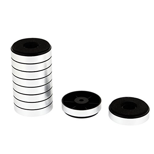 sourcingmap® Rund, CD-Player, Verstärker, Fuß (Feet Stand Chassis 30 mm x 8,5 mm, 10 Stück
