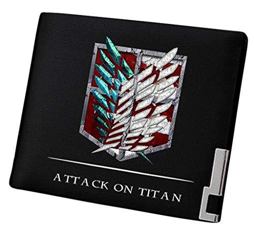 Cosstars Attack on Titan Anime Cartera Hombre Cuero...