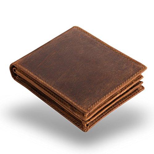 A.P. Donovan - Portafoglio donna uomini - borsa marrone in pelle - Money Bag - portafoglio epoca