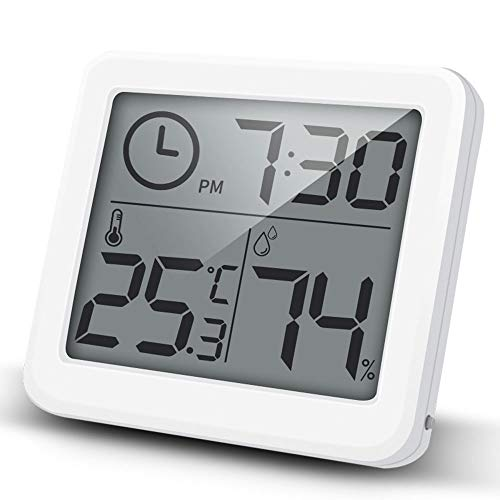 iKALULA Termometro Igrometro Digitale, Monitor umidità da Interno Termometro Ambiente Interni Termoigrometro Digitale per Stanza da Bambino, Camera da Letto, Soggiorno, Ufficio, Serra, Magazzino