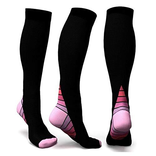 iHOMIKI Cómodo Accesorio de Vestir Calcetines de los Hombres Profesionales Transpirable Actividades de Viaje Fit para Las Enfermeras del Recorrido del Vuelo