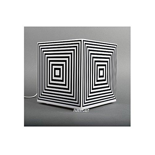 Faberplast Cube Lampe, noir et blanc, 25 x 25 x 25 cm