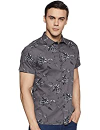 ABOF Men's Floral Slim Fit Casual Shirt