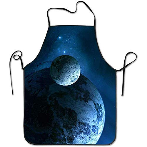 ouyjian Aprons for Sale Fantasy Space Planet Deluxe Cute Aprons Chef Kitchen Cooking and Men & Women Baking Bib BBQ - Sales Lady Kostüm