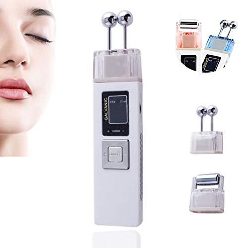 Galvanische Gesichtsmaschine Microcurrent Hautstraffung Whiting Iontophorese Anti-Aging-Massagegerät Hautpflege Gesichts-SPA-Salon Schönheit