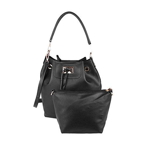 OBC Only-Beautiful-Couture, Borsa a mano donna beige talpa ca.: 40x29x18 cm (BxHxT) nero