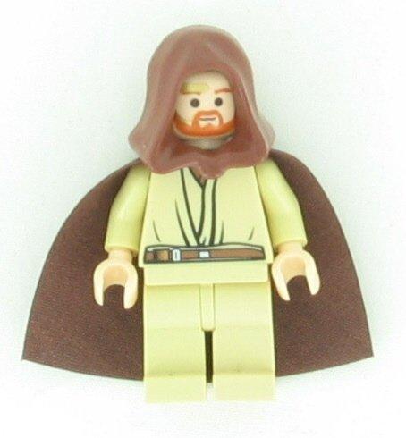 Lego Star Wars Obi-Wan Kenobi Minifigure with Lightsaber (Headset Version) by LEGO