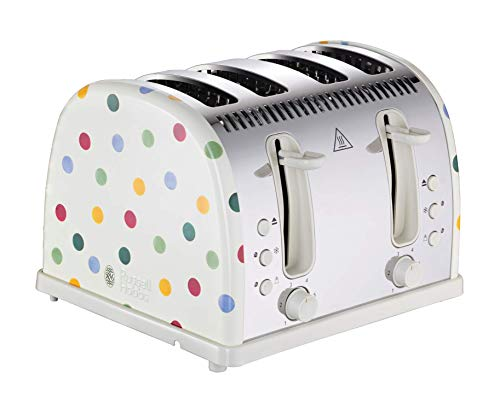 Russell Hobbs 21305 Emma Bridgewater Toaster, Polka Dot 4 Slice Toaster, 2400 W Best Price and Cheapest