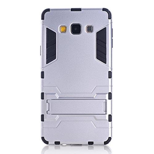 GALAXY J3 Hülle,EVERGREENBUYING Abnehmbare Hybrid Schein SM-J3109 Cases Ultra-dünne Schutzhülle Case Cover mit Ständer für Samsung GALAXY J3 (Gold+Schwarz) Silver