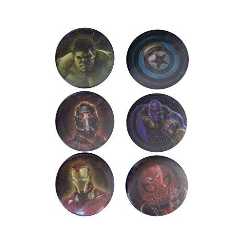Offizielle Marvel Avengers Infinity Krieg Lenticular Pin Abzeichen - Set von 6