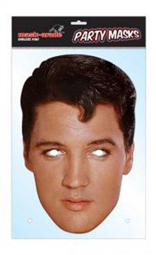 empireposter Elvis Presley Prominentenmaske, Papp Maske, aus hochwertigem Glanzkarton mit Augenlöchern, Gummiband - Grösse ca. 30x21 ()