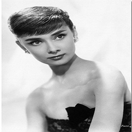 ZY Benutzerdefinierte Canvas Wanddekor Audrey Hepburn Malerei Poster Audrey Hepburn Aufkleber schwarz Mit Wandbild Wohnzimmer, 30 * 40 * 3.
