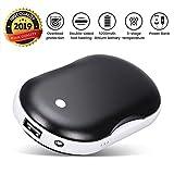 OUTERDO Handwärmer USB,Handwärmer Powerbank mit LED doppelseitige Heizung für...