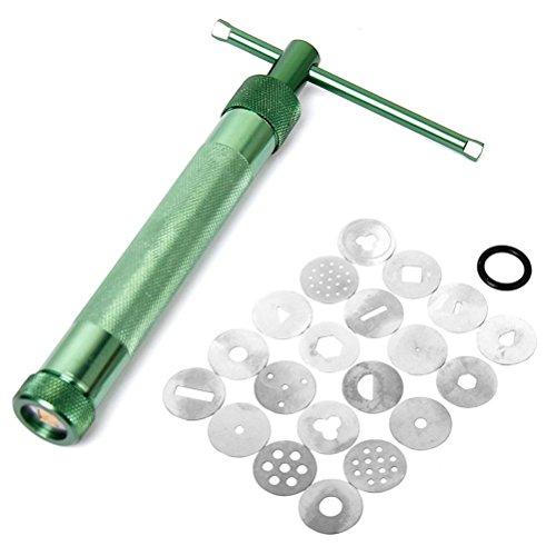OUNONA, tragbare Presse für z. B. Polymere, Ton, Formpresse mit 20austauschbaren Motivscheiben, grün