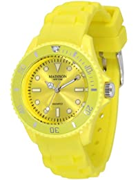 Pastell Gelbe Madison New York Candy Time Mini Damen Armbanduhr