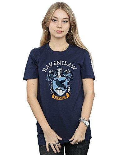 Harry Potter Damen Ravenclaw Crest Boyfriend Fit T-Shirt Navy Blau Small