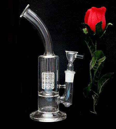 Bong in vetro acqua Tubo di fumo con ciotola in vetro senza Percolator gabbia con acqua tubi per fumo Oil Rig