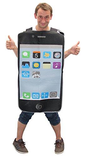 Foxxeo 40008 | Handy Smartphone Telefon Kostüm für Damen und Herren Gr. M-XXL, Größe:M/L