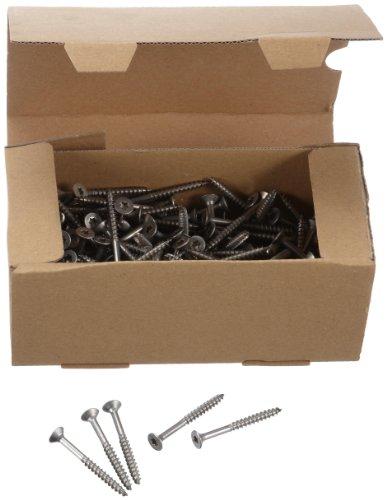 SDU 751000 - Viti a testa svasata per pannello truciolare, 5x50, in acciaio INOX A2, 200 pezzi