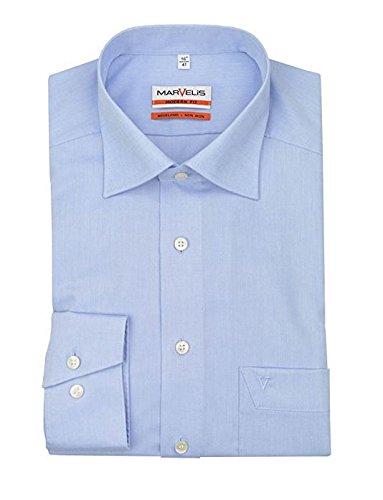 MARVELiS-Hemd SLIM-FIT 4704-69-11 h.blau Extra langer Arm: Kragenweite: 40 | Farbe: 11-hellblau