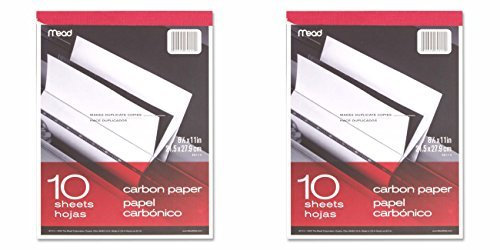 Meadwestvaco 40112 10 Count 8.5 X 11 Carbon Paper Tablet by Mead