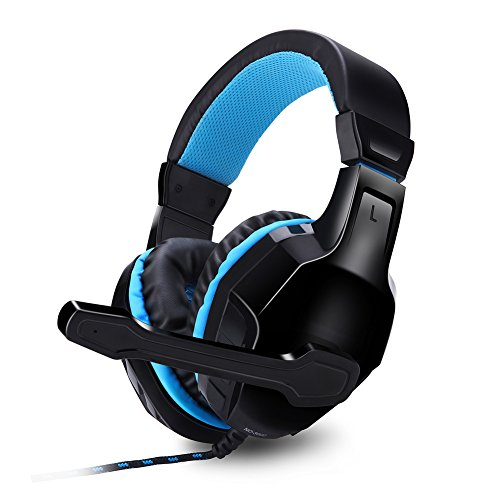 Große Akzent Kissen (Expresstech @ Gaming Kopfhörer Stirnban Over Ear mit Mikrofon für Gaming Spielen Chat Musik PS4 PC iPhone intelligenten Telefon-Laptop-Tablette iPad iPod Mobilephones MP3 MP4)