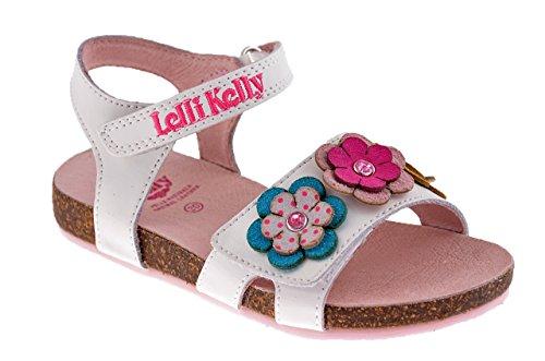 Lelli Kelly 7530 Sandales Neuf Chaussures Enfant Blanc / Rose