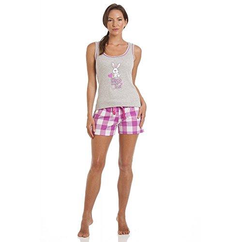 Camille-pigiama-da-donna-a-due-pezzi-cotone-stampa-con-coniglio-grigio