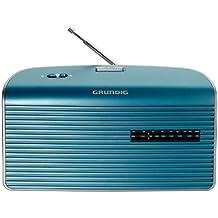 Grundig Music 60 - Radio con sintonizador PLL (FM/MW-AM, jack 3.5 mm, control de volumen automático, antena), color turquesa