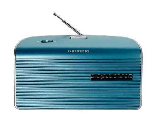 Grundig Music 60, empfangsstarkes Radio im modernen Design, turquise/silver