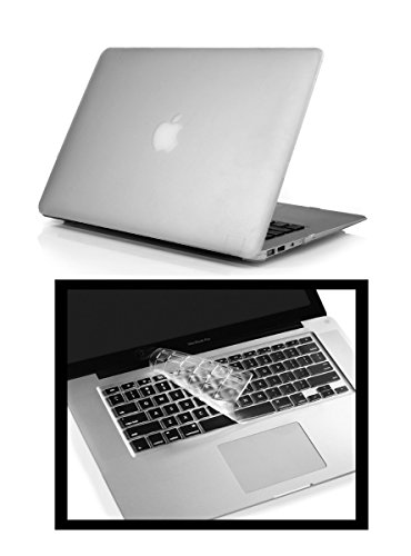 """PINDIA TRANSPARENT MATTE FINISH APPLE MACBOOK PRO 13 13.3 """" MD101HN/A & MD101LL/A FLIP THIN RUGGED ARMOR HYBRID BUMPER HARD CASE SHELL COVER COMBO KEYBOARD"""