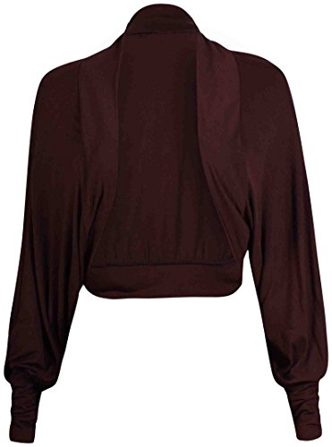 Da donna, maniche a pipistrello anteriore aperto Coprispalle senza chiusura bolero maglia corto cardigan top Blu scuro