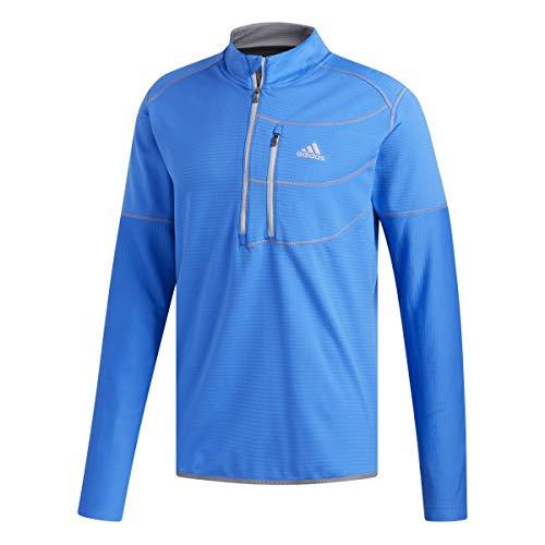 adidas Herren Climawarm Gridded 1/4 Zip Layer Top Pullover Kinder Blau (Azul Dq1785) X-Large