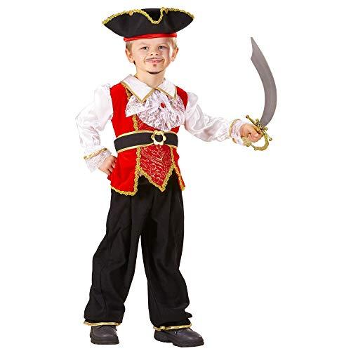 WIDMANN - Disfraz infantil de piratas, corsarios y bucaneros, multicolor, 98 cm/1 - 2 años, 41078
