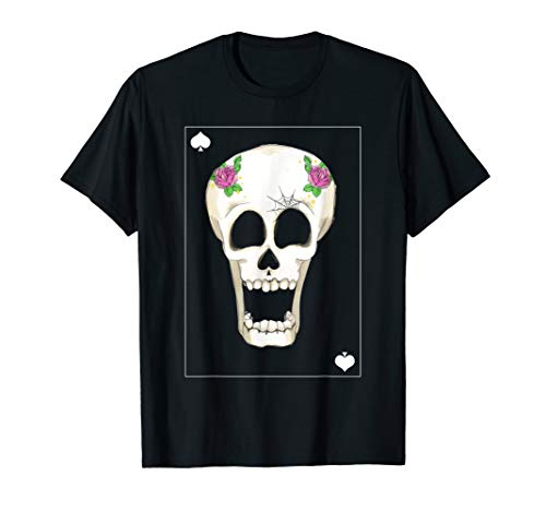 ACE OF SPADES Skull Totenkopf T-Shirt Geschenk Shirt (Ace Halloween-kostüm Spades Of)