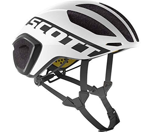 Scott Cadence Plus Triathlon Rennrad Fahrrad Helm weiß/schwarz 2019: Größe: S (51-55cm)