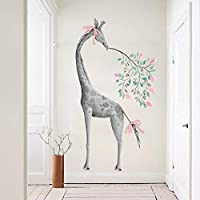 FUZILV New Abstract Giraffe Poster Home Decoration Pvc Wall Stickers Diy Modern Animal Living Room Bedroom Wall Decals Art 60X100Cm
