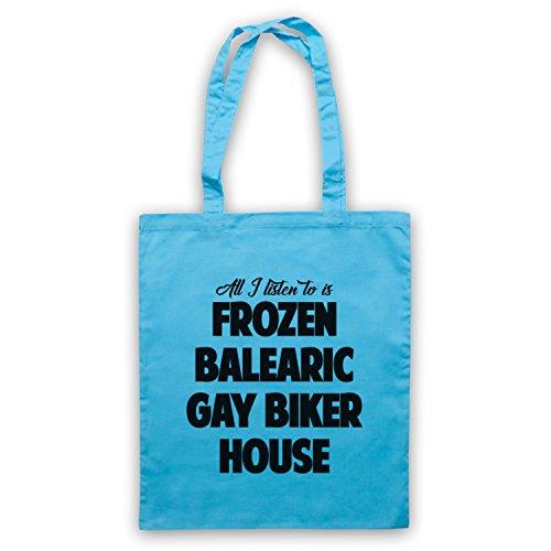 Frozen Balearic Gay Biker House Niche Dance Music Umhangetaschen Hellblau