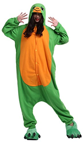 sene Cartoon Tier Kigurumi Pyjamas Nachtwäsche Mit Kapuze Cosplay Kostüm Schildkröten XL for Höhe 178-187CM (Kostüm Schildkröte)