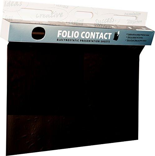Folio Contact Blackboard: die patentierte elektrostatische Tafelfolie - haftet ohne Hilfsmittel auf nahezu allen Oberflächen Weiß Folio
