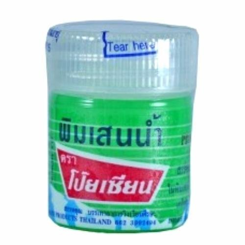 Poy Sian Pim Saen Balm Oil Nasal Inhaler Motion Sickness Dizzy Headache Relief(1x8CC JAR)