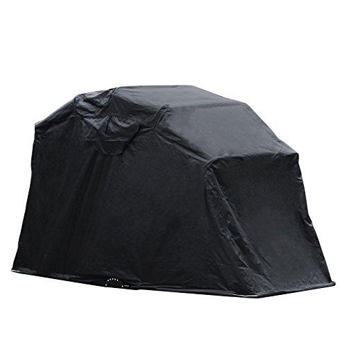 BuoQua Garage Pieghevole Per Moto In Nero Oxford 600D 269cm x 104cm x 155cm Pieghevole Garage Tenda Garage Telone Di Prorezione A Tenda (Nero)
