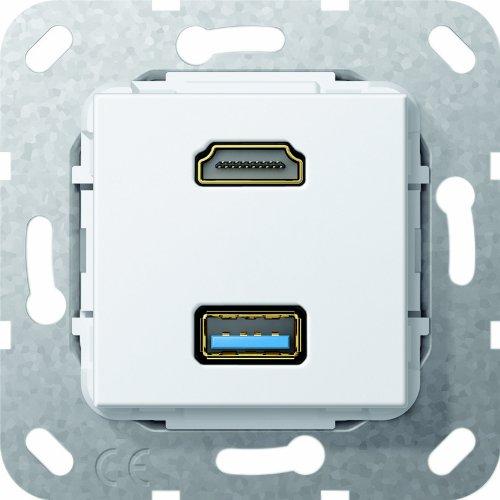 GIRA 567903 HDMI + USB A - TOMA DE CORRIENTE