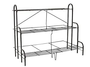 etagere support de plantes plantations ou fleurs 3 etages en metal pour pot ou balconniere de. Black Bedroom Furniture Sets. Home Design Ideas